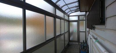 施工事例:スペースの有効活用 サニージュ テラス囲い