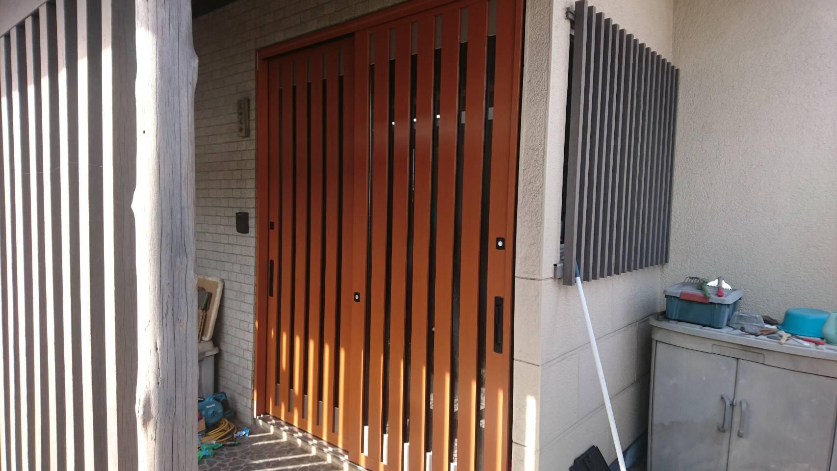 シーエス建材トーヨー住器の引戸交換工事 LIXIL リシェントの施工事例写真