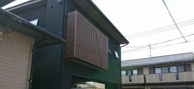 施工事例:岡山市 コートライン工事 縦格子